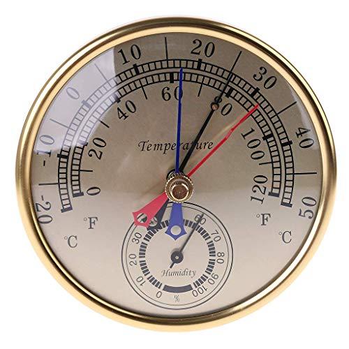LNDDP 5 Zoll Min Max Thermometer Hygrometer Wandhalterung Analoge Temperatur Luftfeuchtigkeit