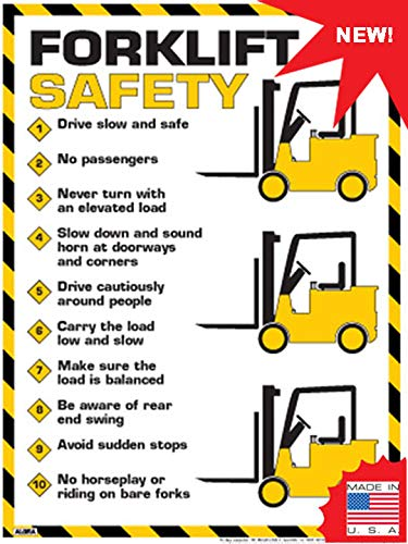 "Forklift Safety Rules Poster (24"" x 36"")"