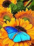 5D mosaico de diamantes mariposa bordado de diamantes jardinero Kit de bordado de imagen de diamantes de imitación paisaje pintura de diamantes A1 30x40cm