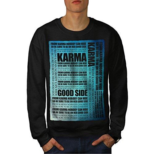 wellcoda Karma verbergen Sprichwort Slogan Männer Sweatshirt Motivation Lässiger Pullover