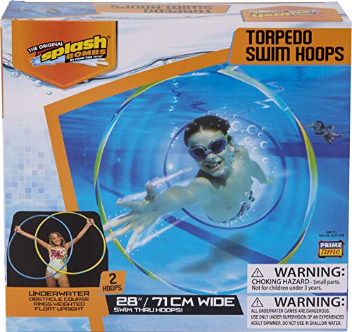 Diving Masters Torpedo Swim Hoops Set, 2-Pack