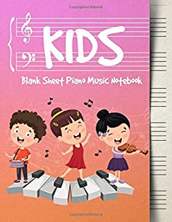 Blank Sheet Music Notebook Kids: Wide Staff Music Manuscript Paper | Boys and Girls Singing (Piano Music Composition Books)