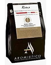 AROMISTICO   Finest Smooth Aroma Medium Roast   Premium Italian Roasted Whole COFFEE BEANS   ROMA BLEND For Pour-Over Drip, Espresso, Moka, Filter Cafetiere, Aeropress   DARK, MELLOW, SHARP, NUT-like