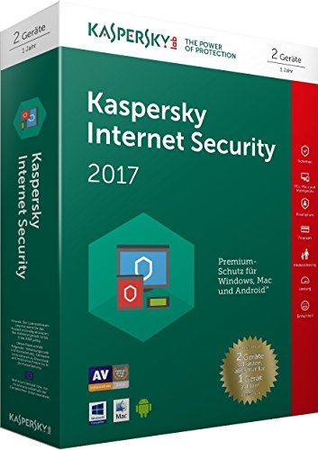 Kaspersky Internet Security 2017 | 2 Geräte  | 1 Jahr | PC/Mac/Android | Download