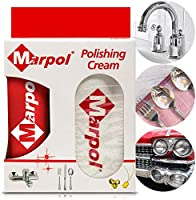 Marpol All Purpose Polishing Cream Kit Paste Set (130 Gram / 4,5 OZ)Sealant That Cleans, Shines, Protects for All Kinds of Aluminum, Nickel, Iron, Copper, Zinc, Silver, Gold, and Stainless Steel Stuff