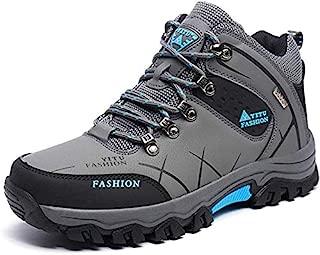 HongXingHai Men Hiking Shoes Non-Slip Mid Trekking Shoe Waterproof Hiking Boot Outdoor Climbing Trail Sneakers
