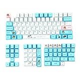 Japanese Character Totoro Design Keycaps for Cherry Mx Switch Mechanical Gaming Keyboard Modify Blue White PBT 130 Anime Keycap