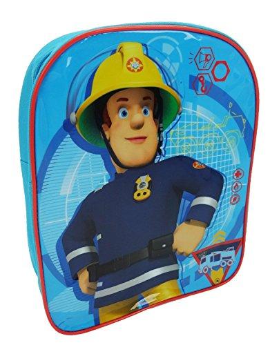 Fireman Sam Plain Value - Mochila infantil (30 cm, 6,5 L), color azul