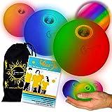 LED Jonglierbälle 3er Set (Langsam Rainbow-Effekt) +...