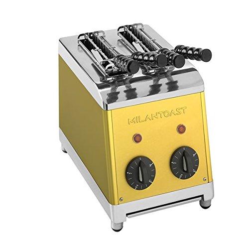 Milan Toast Tosti Apparaat 2-tangs goud Milan Toast 7001, Grillplatten