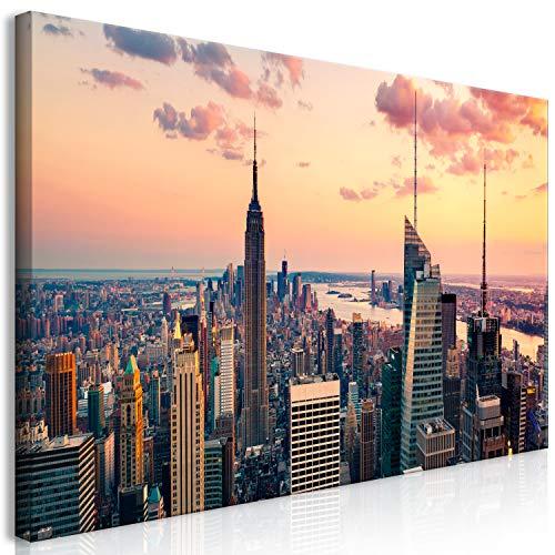 murando Quadro Mega XXXL New York 170x85 cm Straordinario Stampa su Tela XXXL per un Facile Montaggio Fai Da Te Grande Immagini Moderni Murale DIY Decorazione da Parete NY City Citta d-B-0235-ak-e