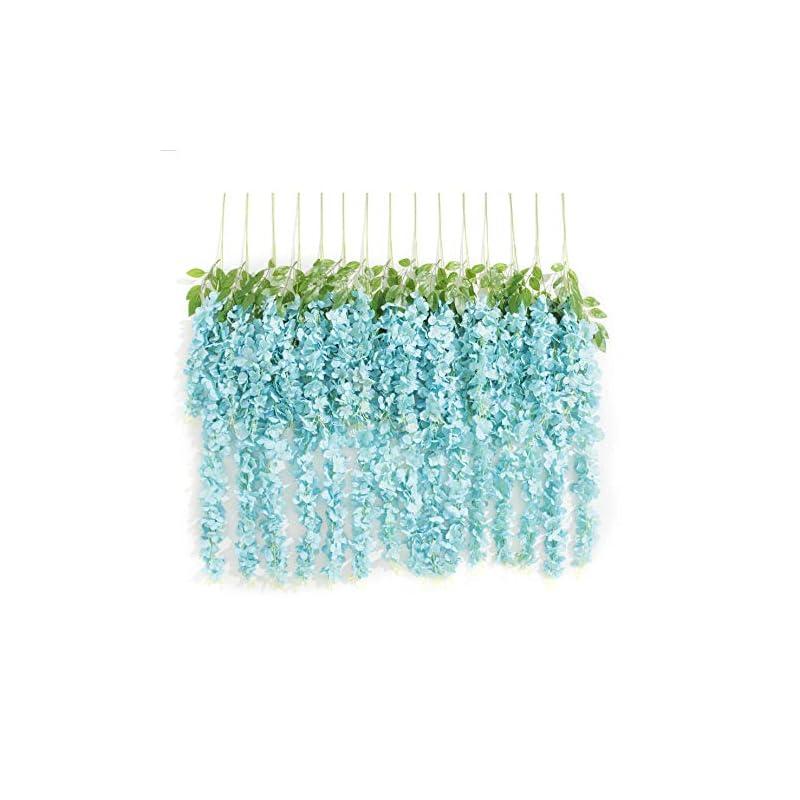 silk flower arrangements huata 10pcs 3.2 feet artificial flower silk wisteria vine ratta hanging wedding decor garlands