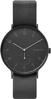 Skagen Reloj Analógico para Hombre de Cuarzo con Correa en Cuero SKW6480