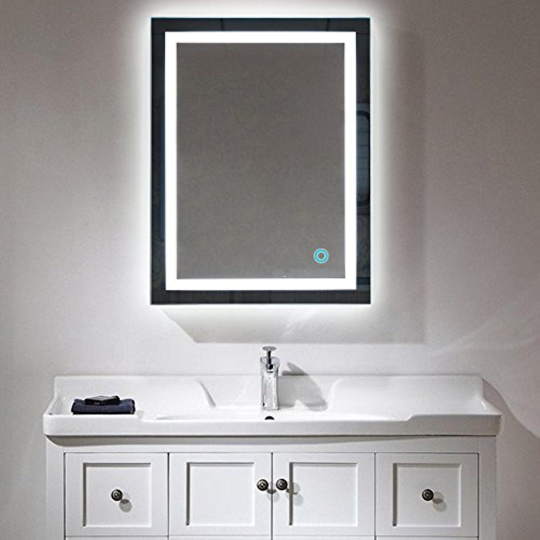 Badspiegel LED Beleuchtung Wandspiegel Badezimmerspiegel mit Touchschalter ( 60 x 80 cm, kaltweien)