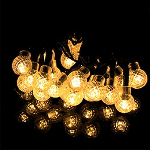 8 patrones 50LED luces de bola de piña luces de cadena solares luces de decoración del día de Navidad luces de bola solares de patio al aire libre A
