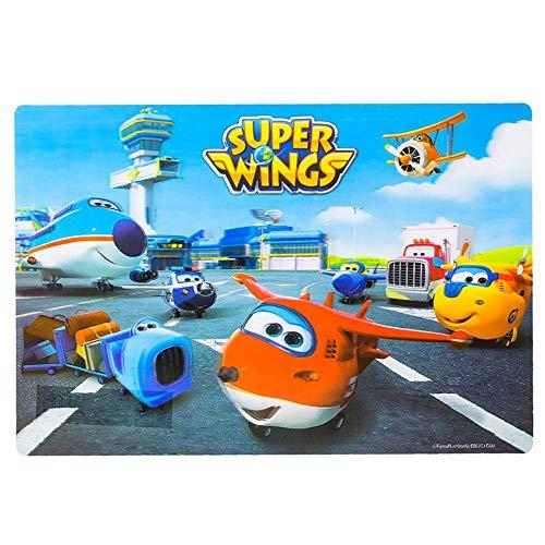 Super Wings Coj/ín Decorativo con dise/ño de Aeropuerto 40 x 40 cm
