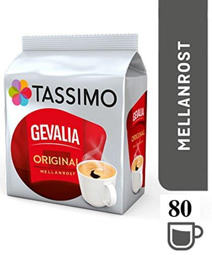 TASSIMO Gevalia Original Mellanrost Kaffee Kapseln Pods 5er Pack, 80 Getränke