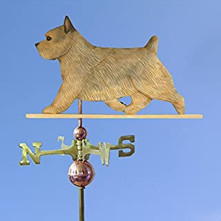 Norwich Terrier Hand Carved & Painted Weathervane Grizzle, 22 Inch, No