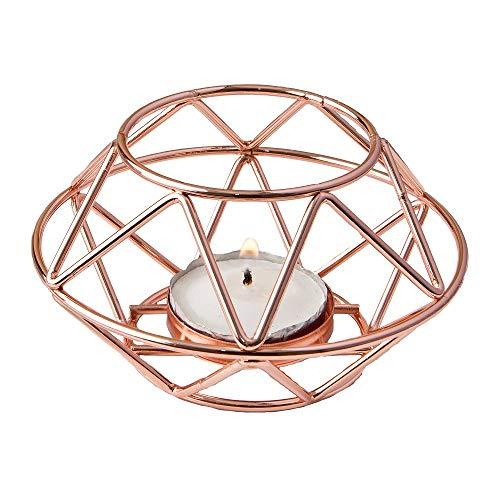 FASHIONCRAFT 8742 Geometric Design Rose Gold Metal Tealight...