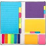 402 Blatt Haftnotizen im Set, Sticky Notes Pastell Divider Lesezeichen Schreibwaren Klebezettel Bunt...