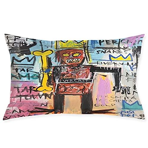 Hengtaichang Jean Michel Basquiat - Funda de almohada suave y cómoda, se puede utilizar en sofá dormitorio de 50 x 70 cm