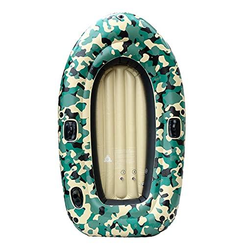HOUADDY Bote Inflable Grueso de PVC, Bote de Rafting portátil de Doble Remo para 2 Personas, Utilizado para Lagos, Pesca al Aire Libre y Costa