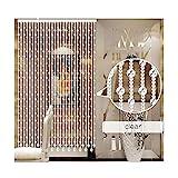 LIQICAI Cortina De Cuentas De Cristal Cristal Borla De La Cortina Cortina De Puerta De La Ventana Paso Fondo Decoración del Banquete De Boda Tabique (Color : Clear, Size : 80x200cm)