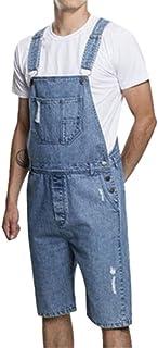 DianShaoA Men Denim Trousers Slim Fit Adjustable Strap Casual Shorts Bib Overalls Dungarees Jeans Jumpsuits