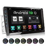XOMAX XM-2VA901 Autoradio avec Android 10, Quad Core, 2GB RAM, 32GB ROM I Navigation GPS I Support WiFi, WLAN, 3G, 4G, Dab+, OBD2 I Bluetooth I XXL Écran Tactile 9' I 2X USB I 2 DIN