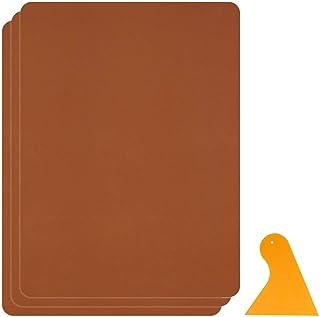 Kit De Patch en Cuir 3 Pièces De Réparation en Cuir Sticker Patch Repairé Kit Auto-Adhésif Cuir, Vinyle Et Simili Cuir Can...