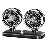 Electric Car Fan 12V,DUMean 2 Speed Adjustable Cooling Low Noise Air Cooling Dual