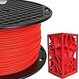 PLA MAX PLA + Red PLA Filament 1.75 mm 3D Printer Filament 1KG 2.2LBS Spool 3D Printing Material Stronger Than Normal PLA Pro Plus Filament CC3D PLA Max Mailbox Red Color