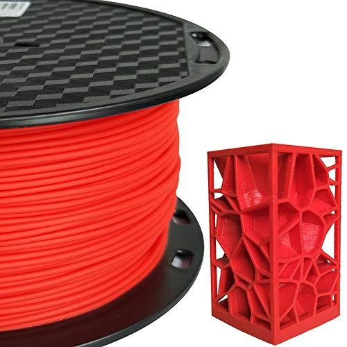 PLA Max (PLA+) Red PLA Filament 1.75 mm 3D Printing Filament 1KG 2.2LBS Spool 3D Printer Material Strength Than Normal PLA Pro Plus Filament CC3D (Mailbox Red)