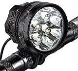 Bike Lights,Waterproof Bicycle Headlight,Super Bright 10000 lumens 7LED Bike Headlights,with 9000mAh Rechargeable Battery Pack,for Bike All