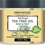 100% Natural Tea Tree Oil Body & Foot Scrub with Dead Sea Salt - Best for Acne, Dandruff and Warts, Helps with Corns,...