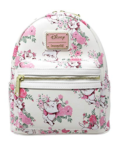 Loungefly Disney The Aristocats Marie Floral Allover-Print Mini Backpack WDBK0335