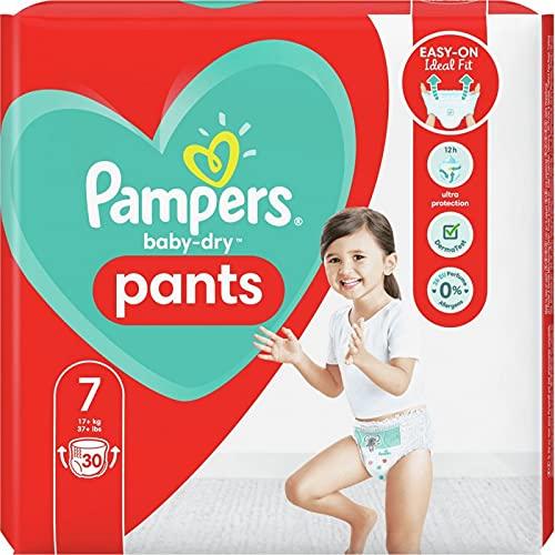 Pampers Baby Dry Nappy Pants Baby-Höschen, Größe 7, 30 Stück