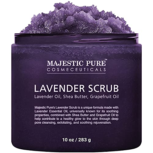Lavender Oil Body Scrub Exfoliator with Shea Butter and Grapefruit Oil...