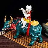 Bedom wallpaper Jingdezhen cerámica Pastor niño Montando Toro decoración de Arte clásico Muebles...