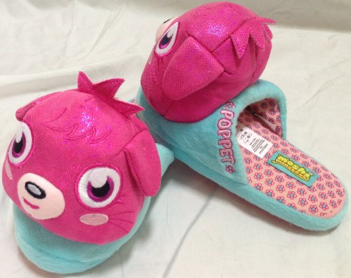 Moshi Monsters, Poppet, Girl Shoe Size 8-9 Plush Soft Comfy Shoes Slippers