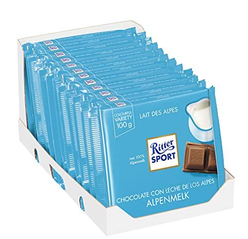 Ritter Sport Alpenmilch, 12er Pack (12 x 100 g)