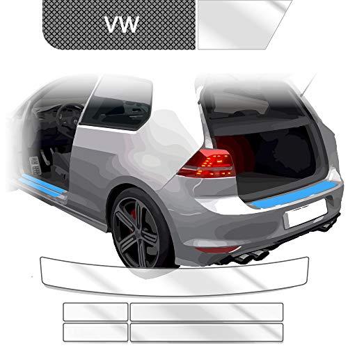 BLACKSHELL Ladekantenschutz + Einstiegsleisten Set inkl. Premium Rakel für Golf Sportsvan ab 2014 Transparent - passgenaue Lackschutzfolie, Auto Schutzfolie