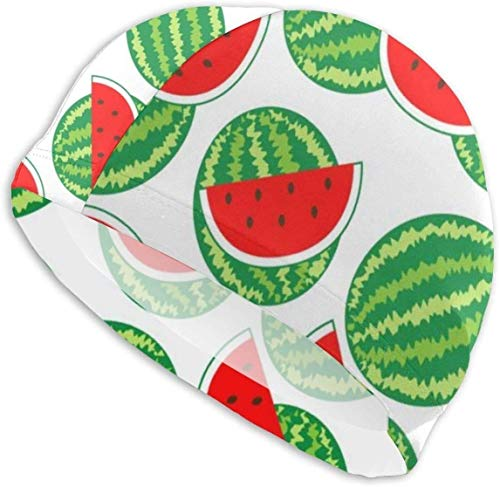HFHY Swim Cap Hat Background from Watermelon Swimming Cap Comfortable Fit for Long Hair and Short Hair