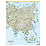 CIA 2004 Karte Asien Kontinent China Russland Indien