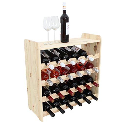 Len Mar.de Weinregal Weinregal Holz Flaschenregal für 24 + Ablage Flaschen NEU!!!