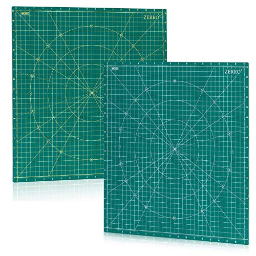 ZERRO Self Healing Rotary Cutting Mat Double Sided 5-Ply 18  x 18  (17  Grid) for Quilting, Sewing…