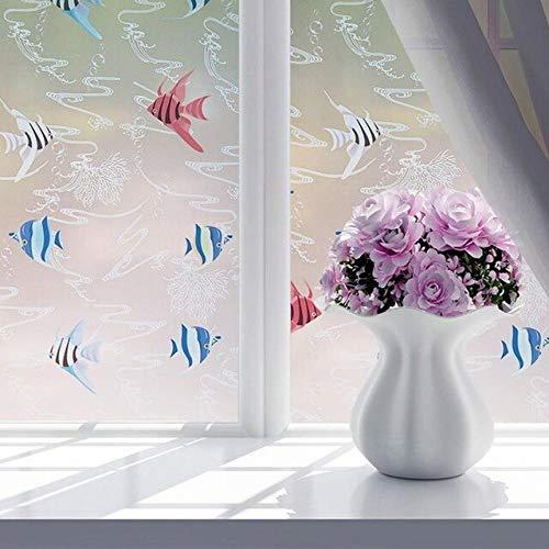 QZXCD raamfolie, 60 x 200 cm, 8 stijlen, PVC, waterdicht, zelfklevend, decoratie voor thuis H