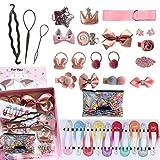 32 haarspangen mädchen, Haarschmuck, Baby-Haarnadel-Set, Geburtstags- oder Kindertag-Stirnband-Set (mit Geschenkbox)