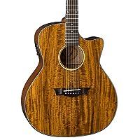 Dean AXS Exotic Cutaway Acoustic-Electric Guitar, Koa Top