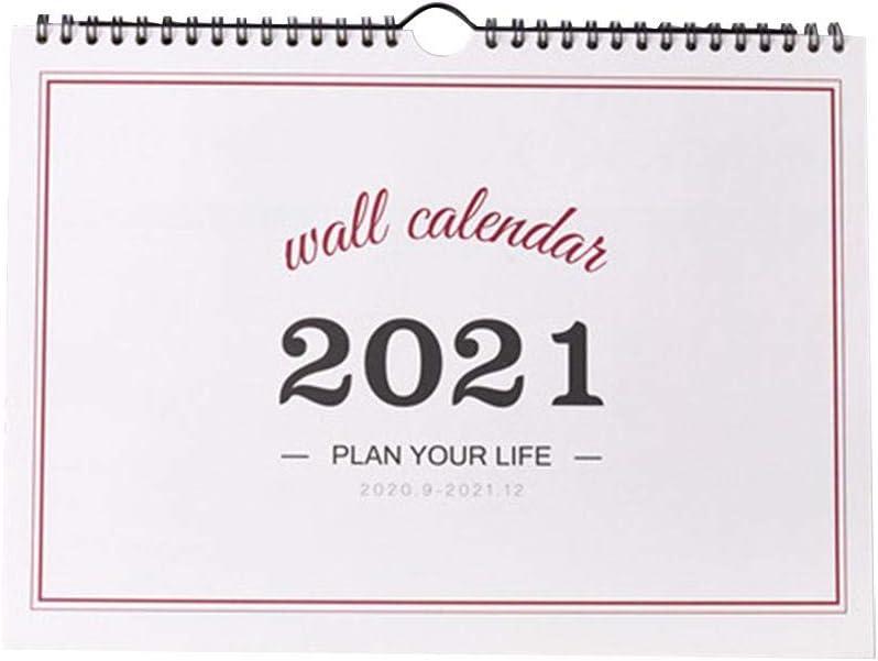 N//F Hanging Calendar 2020-2021 Free-Standing Desktop Calendar Monthly Daily Planner Calendar Double-Sided Flip Desk Calendar for Office and Home Use